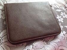 Vintage Goat skin leather notepad organiser