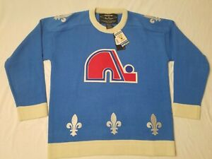 Quebec Nordiques - M - Reebok Vintage NHL Hockey Mens Medium Sweater Jersey VTG