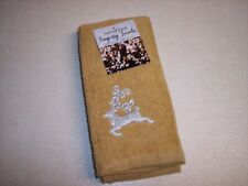"""New listing New! Set/2 Embroidered Christmas Terry Cotton Fingertip Towels12"""" X 18"""""""