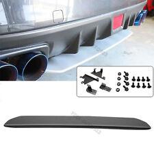 For 15-18 Subaru WRX STI Style Rear Bumper Lip Splitter Diffuser Unpainted ABS