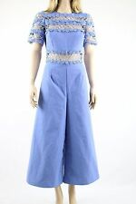 ASOS Womens Premium Blue Occasion Lace Panel Prom/Cocktail Jumpsuit UK SIZE 8 36