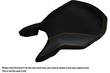 DESIGN 3 YELLOW STITCHING CUSTOM FITS DUCATI 999 749 FRONT LEATHER SEAT COVER