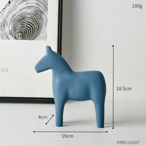 Wood Horse Animal Ornament Nordic Figure Statue Home Decoration Modern Gifts