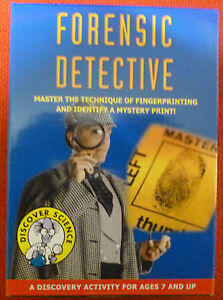 FORENSIC DETECTIVE SCIENCE KIT FINGER PRINTING TECHNIQUE Be a real Detective