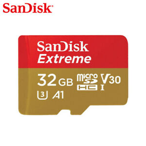 SanDisk Extreme 32GB 64GB 128GB microSD C10 UHS-I U3 Card for Mobile Gaming