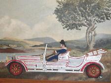 """PAUL NICKEL """"WELSH"""" (AMER 1948-2008) FOLK ART """"REGGIE-ROLLS ROYCE W/ A FLAT.."""""""