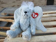 "TY Beanie Baby  STERLING Angel BEAR adjustable Wings approx 6.5"" tall 1999 Plush"
