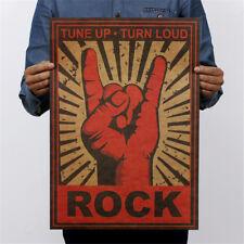weiter Rock and Roll Rock Gesten Wandaufkleber Classic Nostalgie Dekor Post