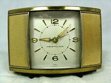 """Selten schöner vintage Reise Wecker  alarm clock WESTCLOX  """" Convertible """" Japan"""