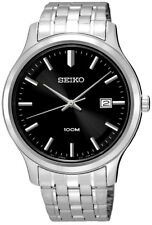 SEIKO SUR145P1, Date Black Dial WR 100m Men's Analogue 2 Yr Guar  RRP £159.