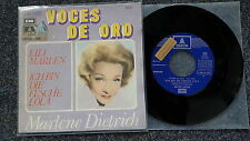 """Marlene Dietrich-Lili MARLEN/MARLEEN/io sono la fesche Lola 7"""" single Spain"""