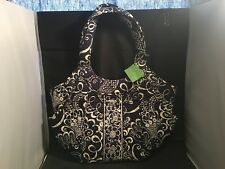 Vera Bradley Tote Bag- Side by Side Twirly Birds Navy