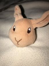 Beatrix Potter Ivory Fleece Satin Edge Lovey Security Blanket Peter Rabbit Plush
