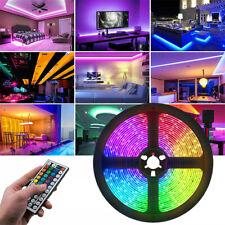 5M-15M 5050 RGB SMD Flexbile LED Strip Light+44 Key IR Remote 12V Power Supply