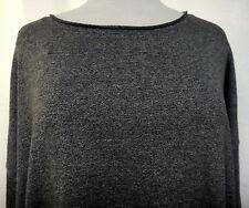 Cyrus Woman Gray Stretch Tunic Top Rolled Collar Hi-Low Hem Side Slit Sz 2X Plus