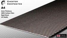 100% Genuine Carbon Fibre A4 2mm Sheet