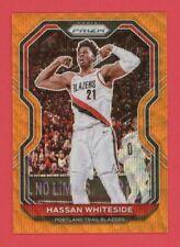 Hassan Whiteside /60 Orange Wave Prizms 2020-21 Panini Prizm 2020 #158 Heat Card