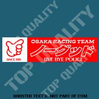 KANJO OSAKA NO GOOD RACING DECAL STICKER RACING GARAGE DRIFT JDM DECAL STICKERS