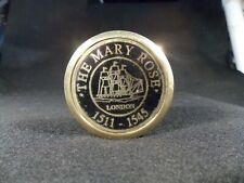 The Mary Rose London Reproduction Fine Brass Compass w/Screw On Top NEW!