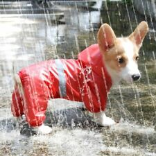 Pet Dog Waterproof Raincoat Jumpsuit Reflective Rain Coat Breathable Mesh Dog