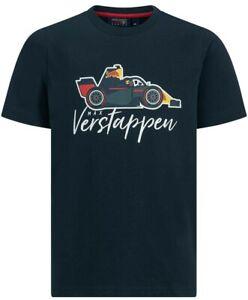 AUTHENTIC F1 Aston Martin Red Bull Racing Max Verstappen Kids Car T-Shirt  BNWT