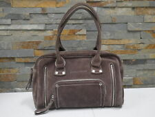 Longchamp Rodeo Luxe Brown Suede Leather Satchel Hand Bag