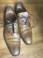 Vintage Dress Shoe Italian Mens Shoes Size 11  Italy Brown Leather vero cuoio