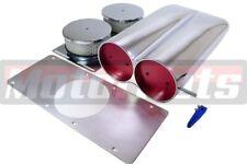 Polish Aluminum Air Hood scoop single/Dual Blower Shot Gun Street Hot Rat Rod