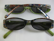 SMASHING SUN READERS Mirage Blue & Olive Single Vision SUNGLASSES  +2.50