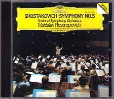 Mstislav ROSTROPOVICH: SHOSTAKOVICH Symphony No.5 DG CD Schostakowitsch Sinfonie