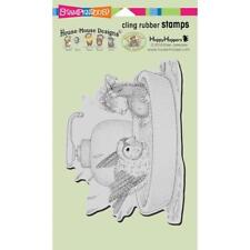 Stampendous House Mouse Cling Stamp - Bird Bath HMCR120