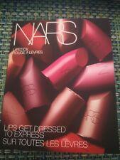 New NARS Lipstick Sample Card 12 Shades in Sheer / Satin /Matte Finish Brand New