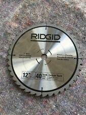 "Ridgid 12"" Carbide Teeth 1"" Arbor"