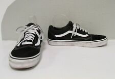 VANS OFF THE WALL ERA Black Suede/Canvas w/ White Leather Low Top Skate Shoes-10