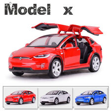 1/32 Tesla X90 Diecast Car Model With Light&Sound Collection Toys Gifts S8Y5