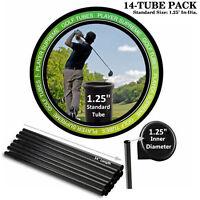 Golf Bag Divider Tubes 14 Pack Rigid Organizer Standard Durable Crimps Black