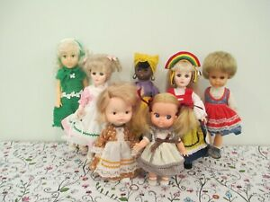 Pretty, All Vinyl and Plastic, Mostly Vintage Dressed Doll Lot