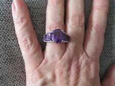 LARGE AMETHYST RING-SIZE O-7.500CTS