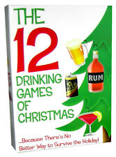 12 DRINKING GAMES OF CHRISTMAS STOCKING STUFFER FUNNY GAG GIFT