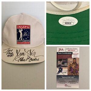 Jerry Rice Marcus Allen John Brodie Signed Isuzu Golf Tourney Hat JSA - FREE S&H