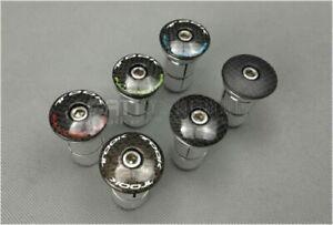 Carbon Fiber MTB Road Bike Top Cap Cover star nut Headset Aluminum Expander Plug