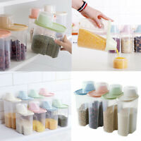 4PCS 1.9/2.5L Dried Food Storage Container Leakproof Jars Airtight Plastic Boxes