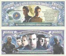 Star Trek Beyond Federation Million Dollar Bills x 2 Captain Kirk Spock Sci Fi