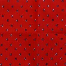 Red White Navy Blue Ascot Cravat Pocket Square Combo Cotton Blend