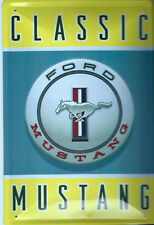 PLAQUE DECORATIVE FORD MUSTANG CLASSIC- BOMBEE -30 X 20 CM -NEUVE-DECO USA
