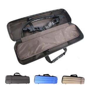 Hard Case Takedown Recurve Bow Hand Bag Backpack Archery Hunting Outdoor Pockets