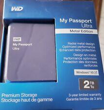 WD My Passport Ultra 2TB, (WDBEZW0020BBA-NESN) Black