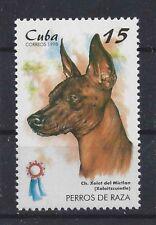 Dog Art Portrait Postage Stamp XOLO XOLOITZCUINTLI XOLOITZCUINTLE Caribbean MNH