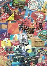 25 RETRO TRAVEL LUGGAGE STICKERS-VTG-VINYL DECAL-HOTEL NAMES/WORLD PLACES/LABELS