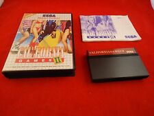California Games II (Sega Master System) COMPLETE w/ Box manual game WORKS!